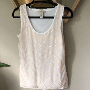 Banana republic heritage sequin top
